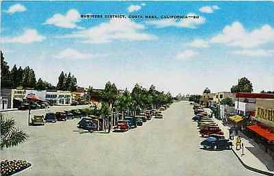 Costa Mesa California CA 1946 Aerial Town Collectible Antique Vintage Postcard Costa Mesa California CA 1946 Aerial view of business district in town but wasn't incorporated until 1953. E. C. Kropp co