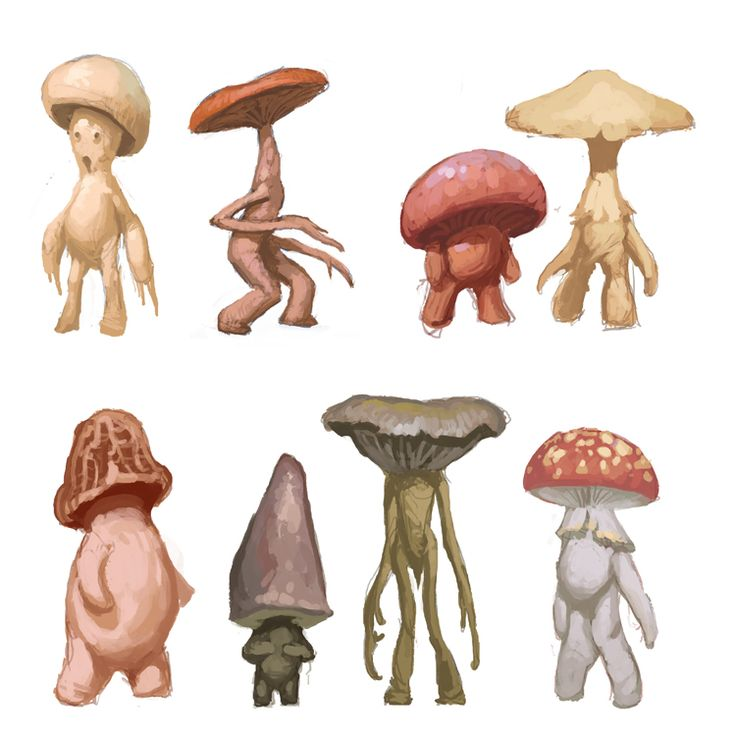 NEUTRAL TRIBES  ** found in land guarded by the HIGH COURT, protected as such [ Mushroom Folk by M0AI.deviantart.com on @DeviantArt ]