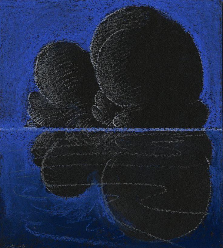 Black Cloud Reflection, Pastel on paper