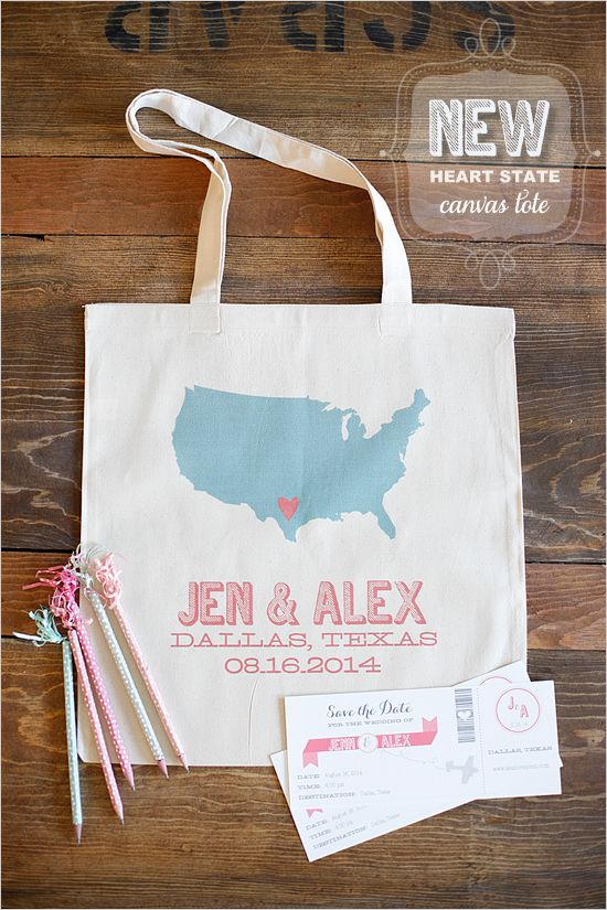 new totes and super cute boarding pass save the dates by paperandthread.com