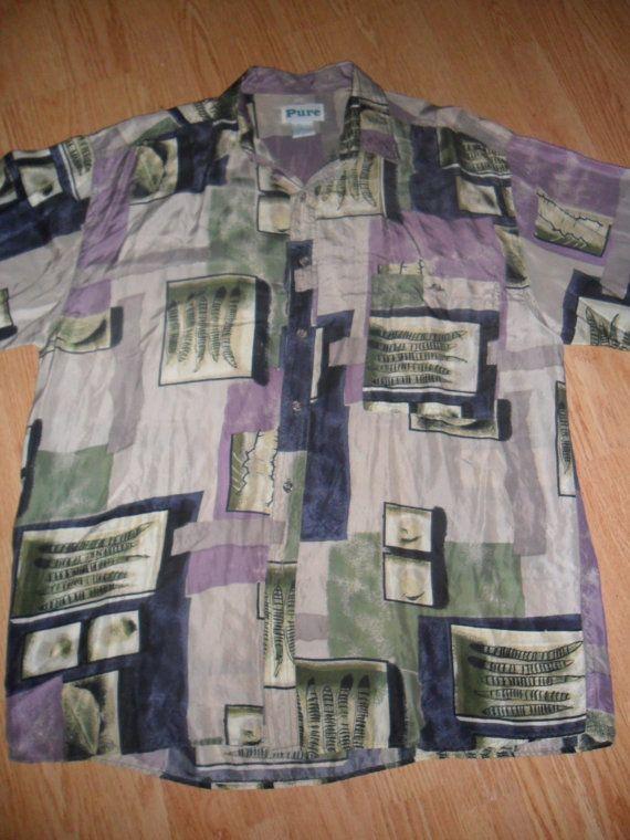 Fresh Prince 1990s Pure Silk Button Up Men's by RetroFreshTees, $27.00