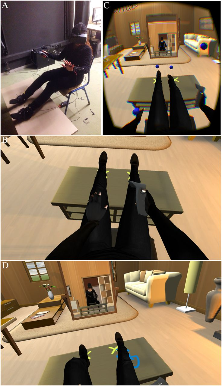 Index of library images illusions best - Immersive Virtual Reality Can Be Used To Visually Substitute A Person S Real Body By A Life