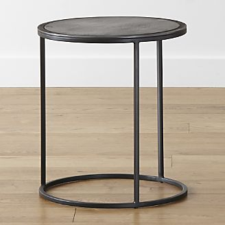 "$189 - 10%. 18"" high x 16"" dia. Knurl Small Accent Table from Crate & Barrel"