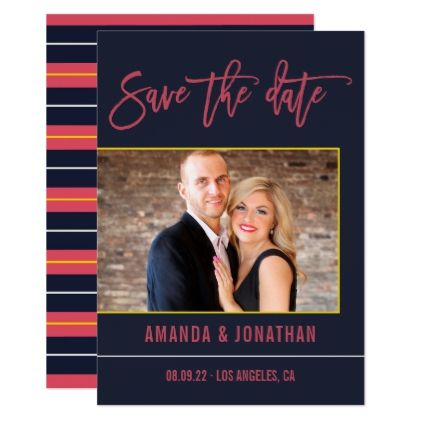 Intricacy colors Wedding Save the Date photo Card - wedding invitations diy cyo special idea personalize card