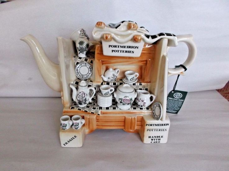 Portmeirion China Stall Teapot, Botanic Garden, England, Handmade, EC #Portmeirion #Eclectic