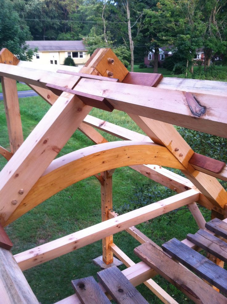 Timber Frame - Future Greenhouse - Reader's Gallery - Fine Woodworking: