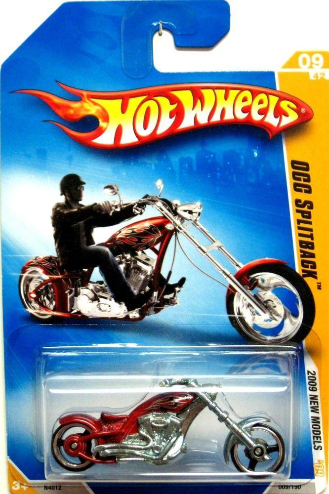Orange County Choppers Splitback 2009 Hot Wheels New Models 09 42 Red Hotwheels