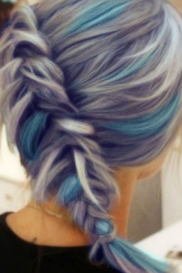 When I get old I hope my hair turns white so I can dye it light blue :)
