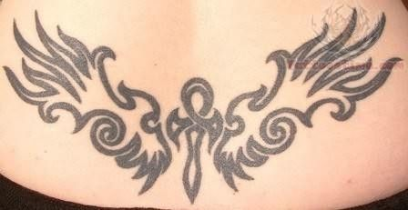 Elegant Egyptian Tattoo On Lower Back