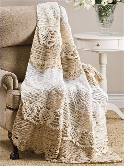 Irish Lace Crochet Afghan Pattern : 28 best images about Heirloom Crochet Blankets on ...