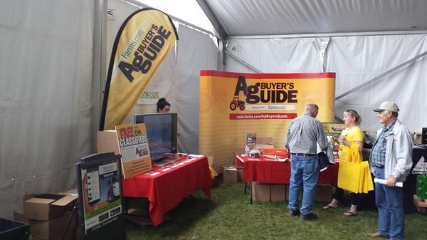 Ag Buyer's Guide Booth at today's Outdoor Farm Show in Woodstock
