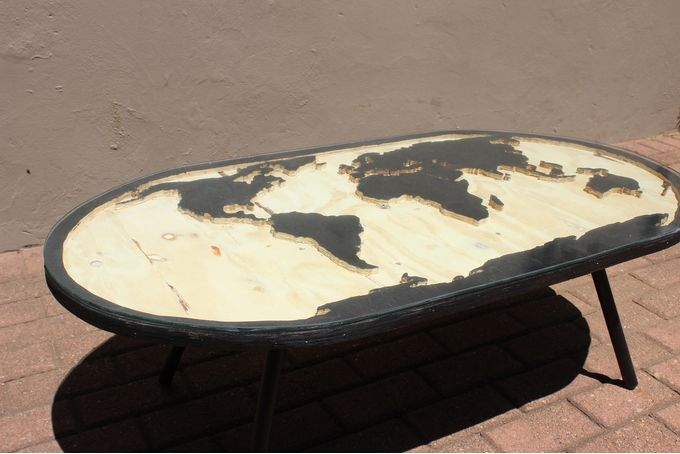 World map coffee table by JVS Designs