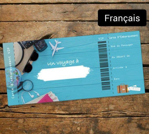 Carte D Embarquement Personnalisee Un Voyage A Personnaliser La