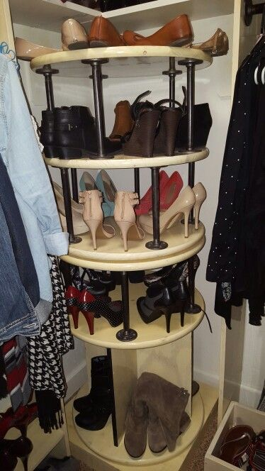 Rotating Shoe Rack For The Corner Of Closet