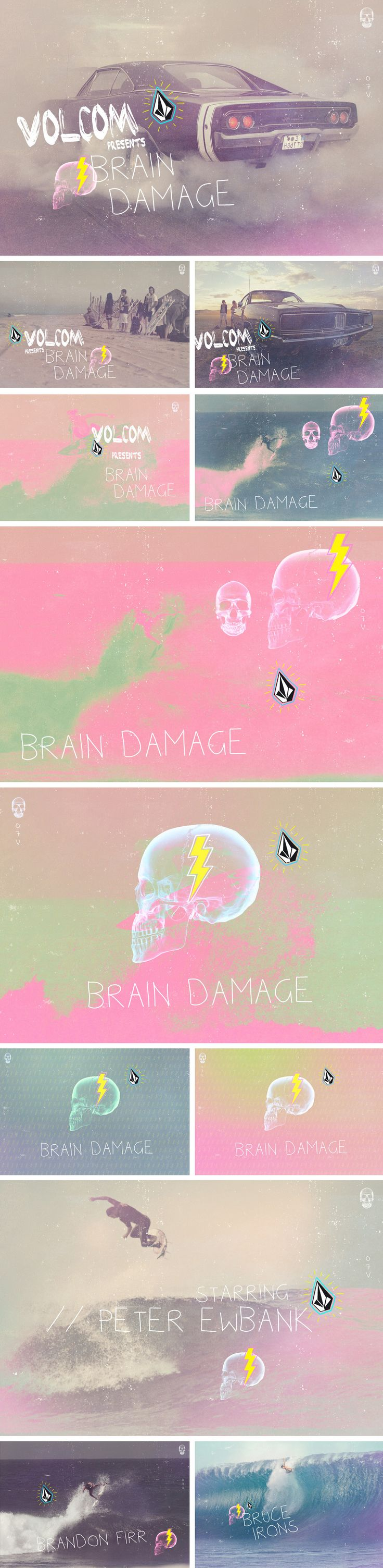 Volcom - Brain Damage Key Visual pitch for Volcom's surf movie Brain Damage.
