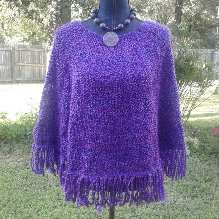 73 best Hand Knit Sweaters Ponchos Hoodies images on Pinterest ...