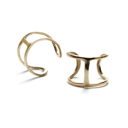 Luxurious linework. This minimally designed ring is from Canadian jewelry designer, Alynne Lavigne. The Line Ring has been plated with gold and is slightly adjustable. One size fits all.