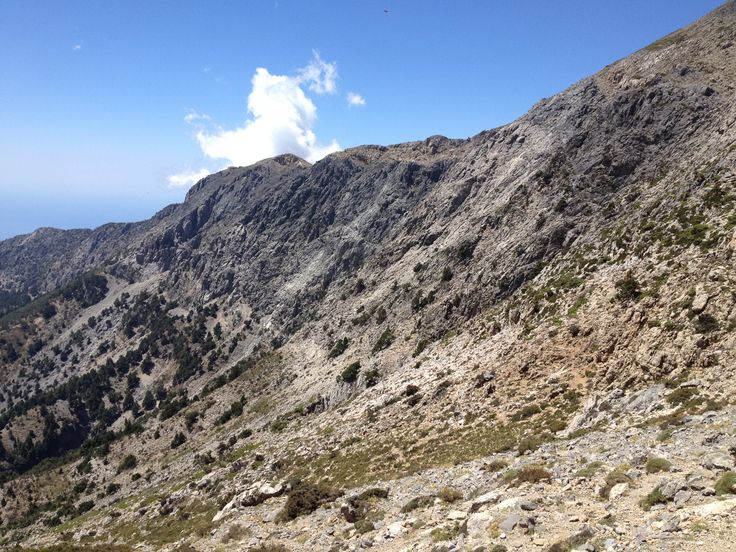 White Mountains-Crete-Greece. On the way to Ahlada