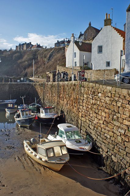 Crail Harbour, Fife, Scotland - I bought some famous Crail pottery with a friend, about 30 years ago - still have it. I don't think I've used it once but I really love it.