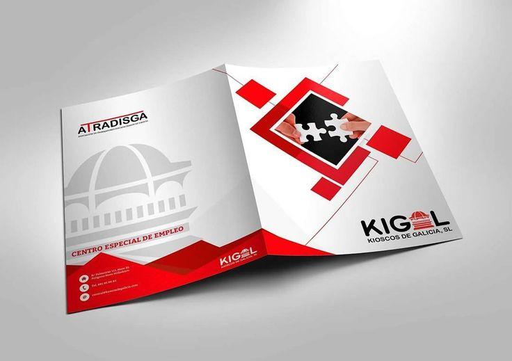 Nuevas carpetas corporativas para Kigal Kioscos de Galicia  #diseñoGalicia #galiciaDiseño #Yeti #galiciaCalidade #galicia #diseño #comunicacion #love #vedra #santiagoDC #trabajoBienHecho #imagenCorporativa #instagood #happy #swag #design #graphicDesign #amazing #bestOfTheDay #art #creatividad #creative #carpeta #folder #puzzle #kiosco #kigal