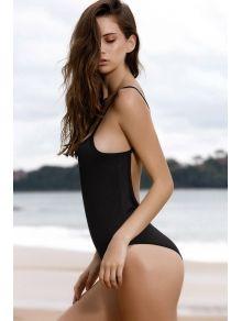 Spaghetti Strap Backless One-Piece Swimwear