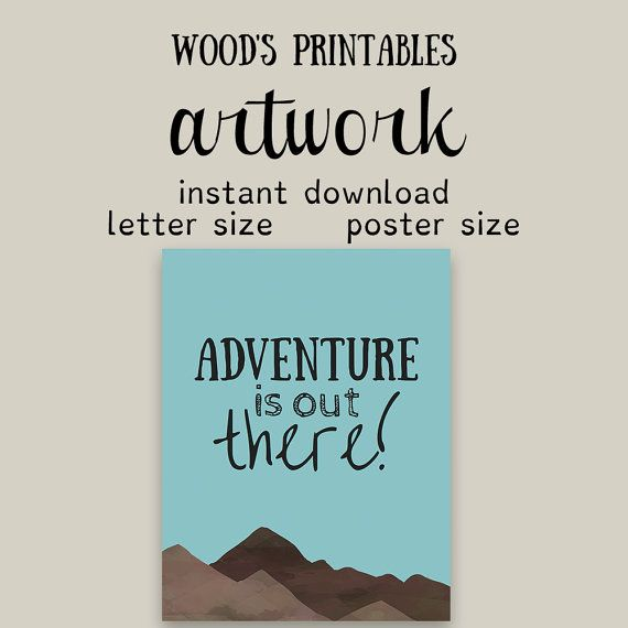 Adventure is Out There Print Adventure Nursery by woodsprintables