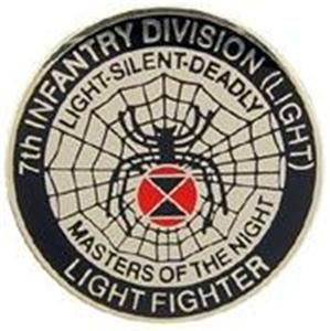 US Army 7th Infantry Division Light Military Hat Pin