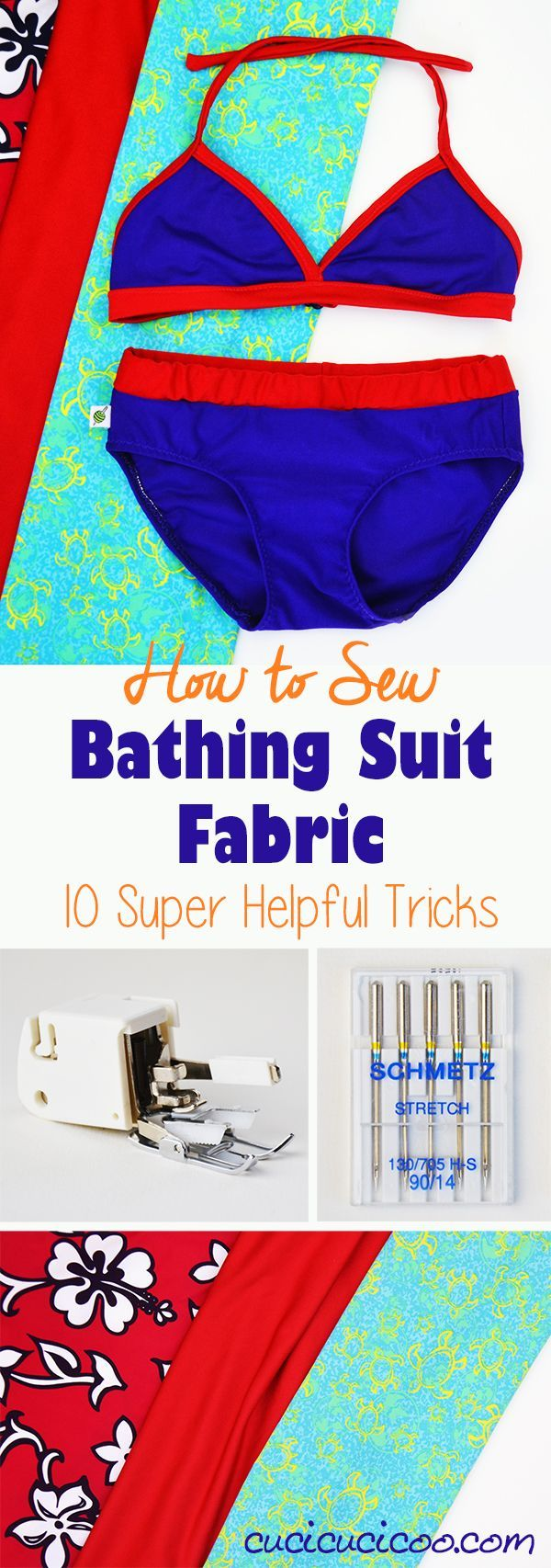 Always  wanted to make your own swimsuits, but are afraid to try? Here are 10 important  tips and tricks that will help you learn how to sew bathing suit fabric for  amazing customized DIY swimwear!