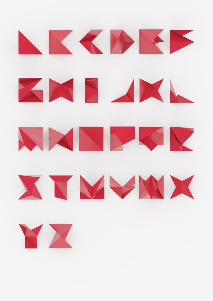 origami font these things pinterest origami fonts and typography