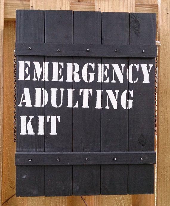 Mini Bar  Emergency Adulting Kit by theLambandtheBear on Etsy