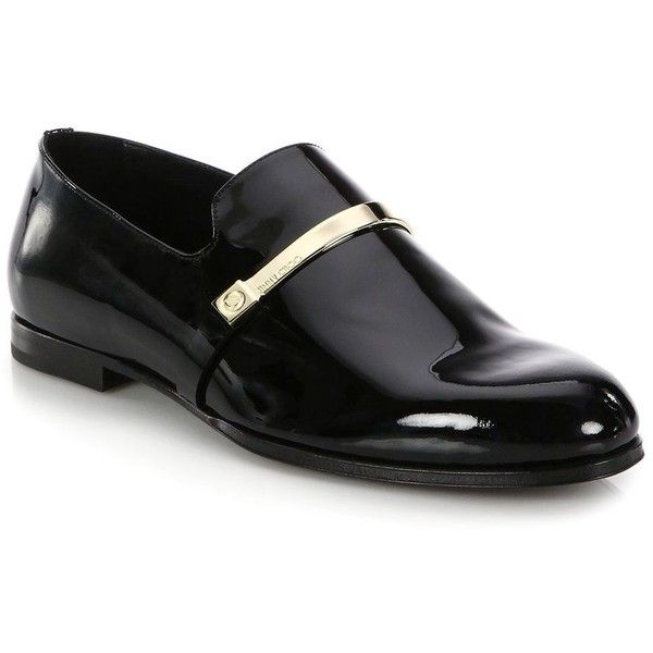 Jimmy Choo Patent Leather Loafers : Jimmy Choo Shoes featuring polyvore, men's fashion, men's shoes, men's loafers, apparel & accessories, black, mens patent leather shoes, jimmy choo mens shoes, mens black loafers shoes, mens patent shoes and mens black patent leather shoes