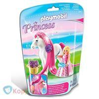 PLAYMOBIL 6166 Prinses Rosalie met paard om te verzorgen - Koppen.com