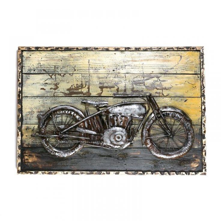Πίνακας μεταλλικός ανάγλυφος με μηχανή