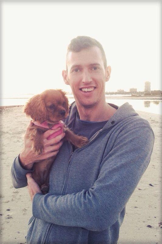 Maple and I at St Kilda Beach