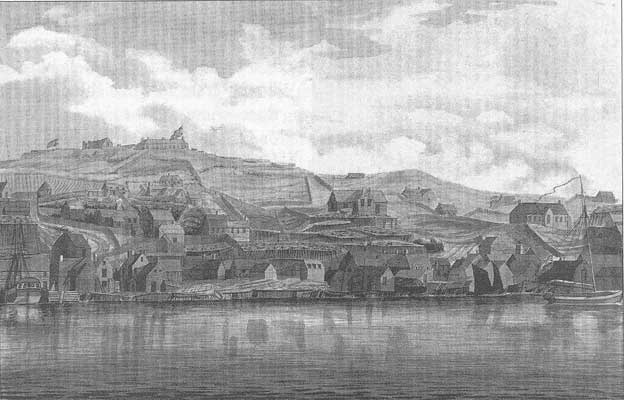 Apparently the oldest known sketch of St.John's, Newfoundland (source unknown)