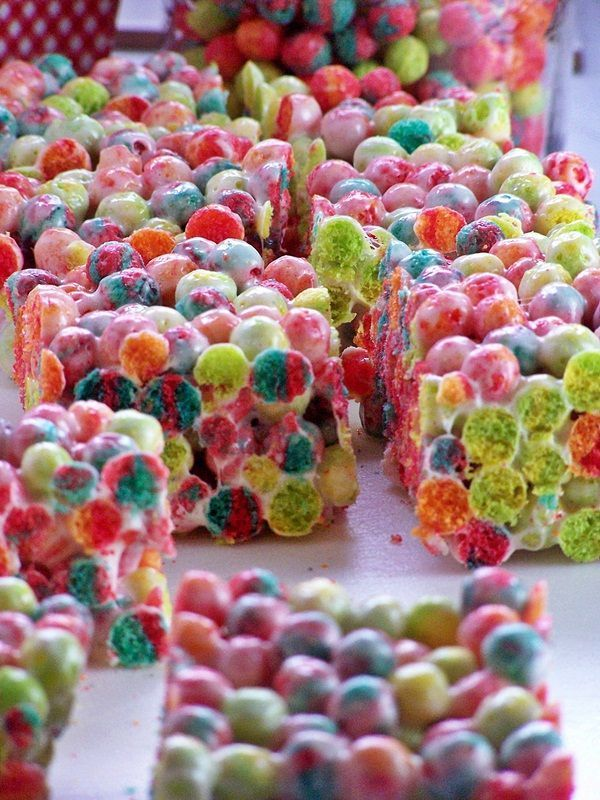 Trix instead of Rice Krispies, genius! These rocked the house at our George Street Block Party!