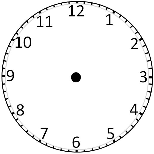 Printable Clock Templates Blank Clockface Without Hands