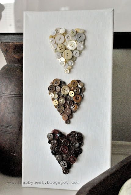 Ombre Button Hearts would be the best use of the antique button collection I have from my mom and grandmother . . . perhaps a great Christmas gift for my daughter :)