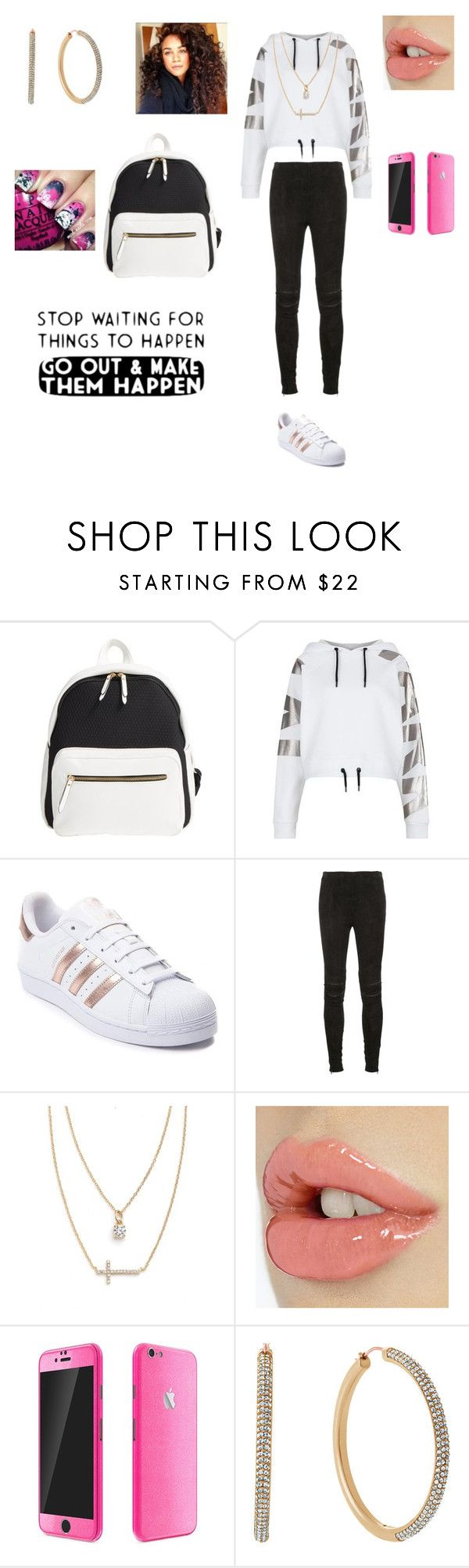"""Make things happen💙"" by kura01 ❤ liked on Polyvore featuring Poverty Flats, Ivy Park, adidas, Yves Saint Laurent, Crislu and Michael Kors"