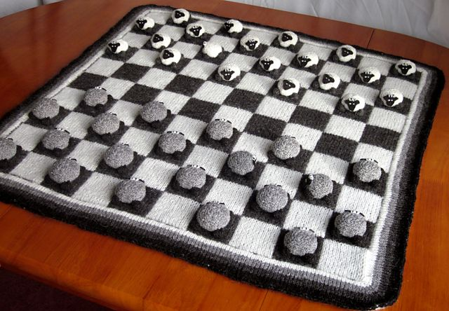 Ravelry: Sheepy Draughts... and a Wolf Too pattern by Aurélie Colas