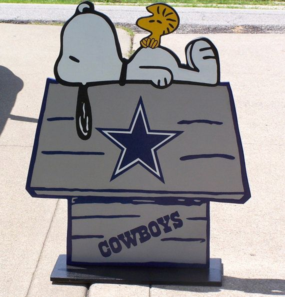 Dallas COWBOYS Football Snoopy Peanuts Wood by duranduran2946, $45.00