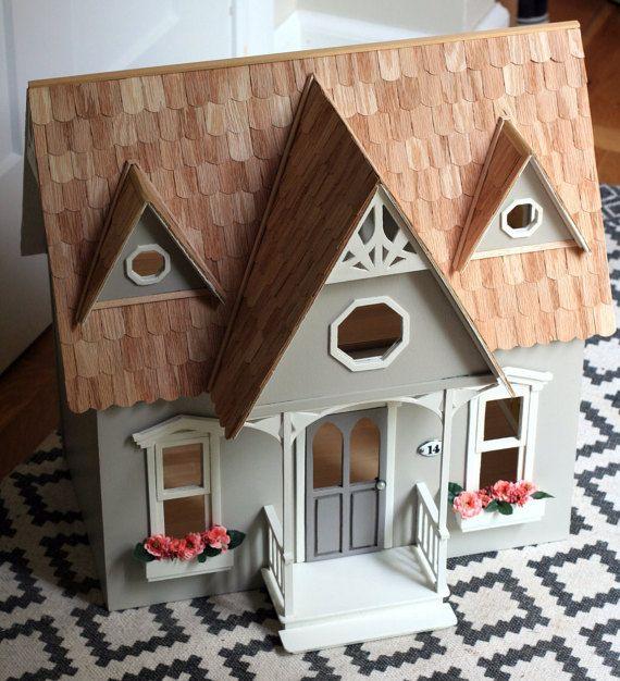 Dollhouse, Rose Briar Cottage, 1:12 Scale, Miniature, Wood, Fairy, Cottage…
