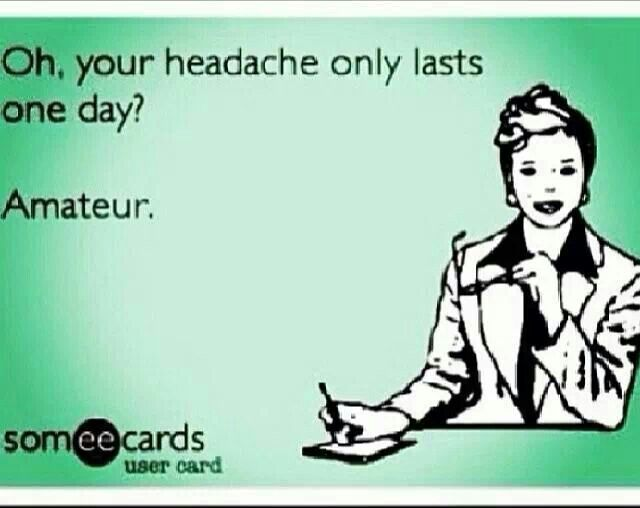 I've had a chronic daily headache for 2 years now  anywhere from 9-15 migraines a month!