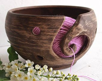 ceramic yarn bowl, stoneware, rustic pottery, pottery handmade, yarn bowl, knitting bowl, crochet bowl, gift for mum, pottery bowl