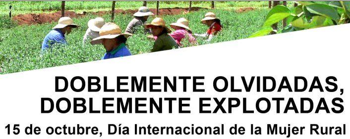 Día Internacional de la mujer rural.