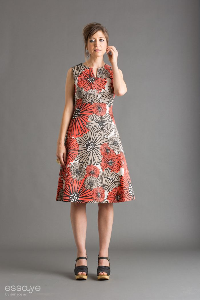 Surface Art - Betty Dress - Dahlia (coral/putty/black), $185.00 (http://www.surfaceart.com.au/betty-dress-dahlia-coral-putty-black/)