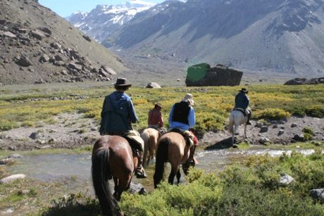 Marmolejo Horseback Ride - This ride involves negotiating rivers which adds a touch of drama even though they are not difficult to cross and the horses, once again, are familiar with the terrain. http://horseridingchile.com/blog/rides/marmolejo-horseback