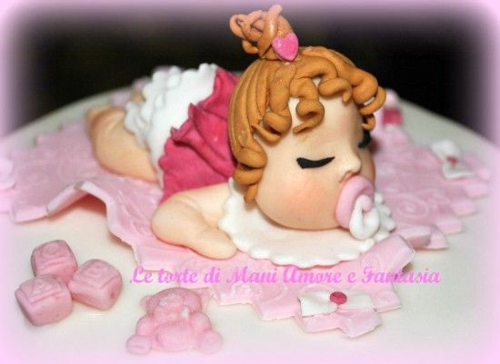 17 best images about torte decorate on pinterest baptism cakes rugby and torte - Decorazioni per battesimo bimba ...