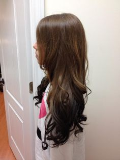 light to dark brown reverse ombre - Google Search