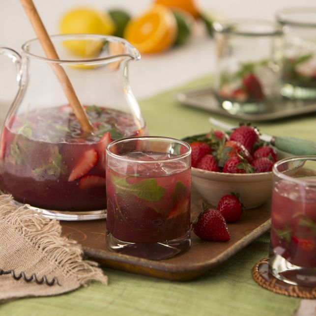 DOLE Salads - Sangria with Muddled Strawberries and Arugula Recipe - DOLE